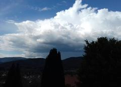 Nuages Masevaux 68290 Extrémité sud d'une ligne d'orages