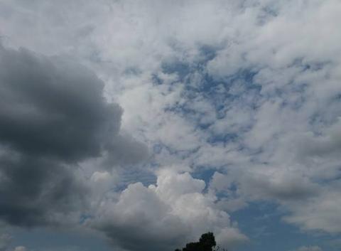 Temps orageux.