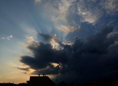 Ciel Niort 79000 Cellule orageuse au nord-ouest.