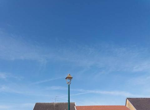 Ciel voilé en Alsace.