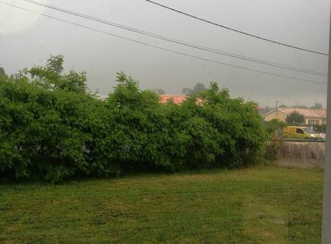 Pluie à Saint Savin