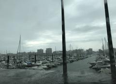 Orage Arcachon 33120 Orage sur le port d?Arcachon