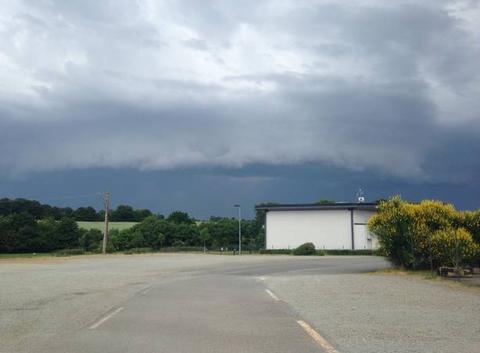 Orage en Mayenne