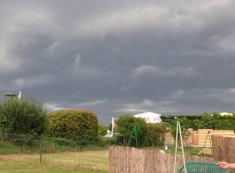 Ciel juste avant l orage