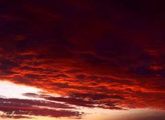 Ciel Niort 79000 Ciel de feu après l'orage
