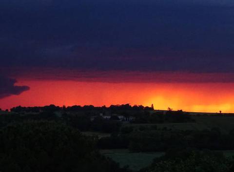 Crépuscule orageux