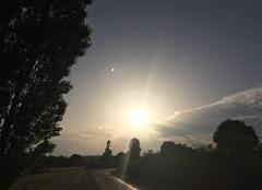 Ciel Mours-Saint-Eusebe 26540 Au soleil couchant