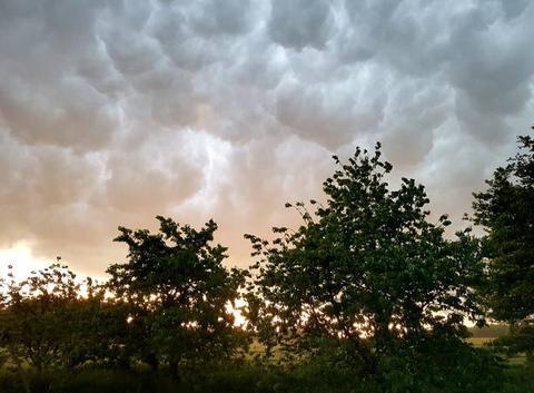 Ciel superbe juste avant l'orage