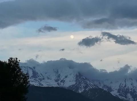 Après l'orage sur le Mt. Blanc