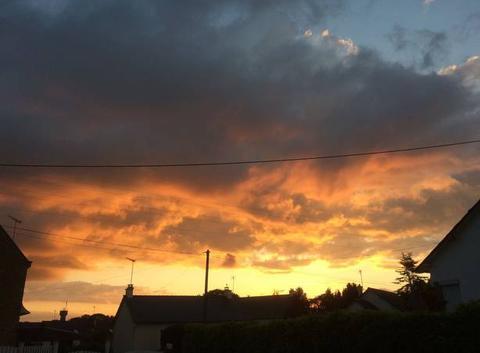 Ciel flamboyant ce soir à Plouha