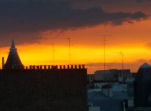 Coucher de soleil Paris 18eme