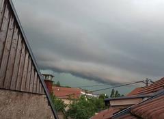 Orage Mamirolle 25620 Arrivé de l'orage