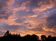 Ciel Langourla 22330 Coucher de soleil