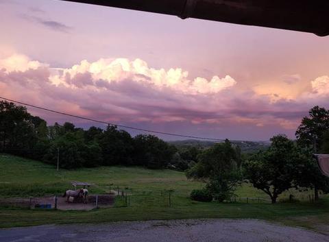 Ciel du 2 juin au soir avant l orage