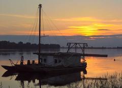 Ciel La Menitre 49250 Couché de soleil sur La Loire