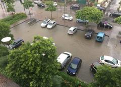 Orage Decines-Charpieu 69150 Inondations suite à violent orage sur le lyonnais
