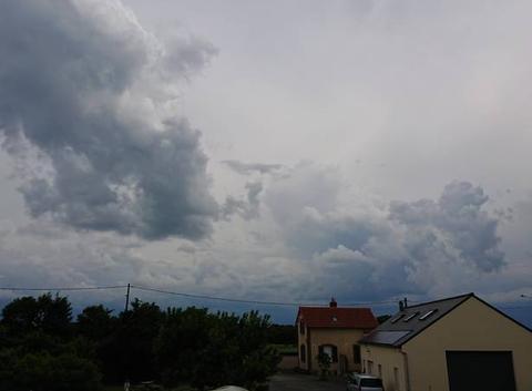 Arrivé d'un orage.