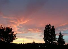 Ciel Rosny-sous-Bois 93110 Coucher de soleil orageux
