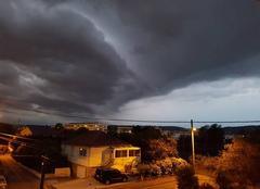 Ciel Maizieres-les-Metz 57280 Supercellule orageuse