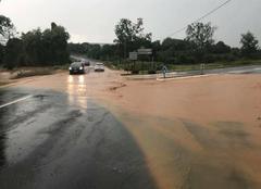 Pluie Mamers 72600 Coulé de boue