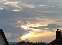 Orage Bellefosse 67130 Coucher de soleil orageux
