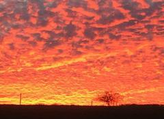 Ciel Uxeau 71130 Coucher de soleil