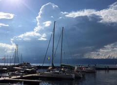 Nuages Thonon-les-Bains 74200 La France en nuage au dessus du Lac Léman