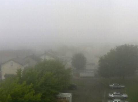 Brouillard sur Migennes