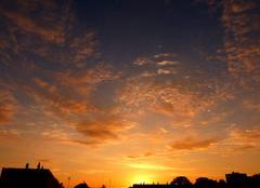 Ciel Niort 79000 Coucher de soleil de ce 10 juin 2018