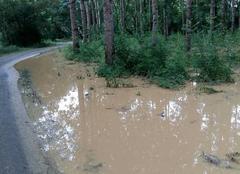 Orage Gondrin 32330 Inondations route secondaire