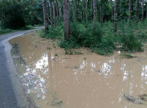 Inondations route secondaire