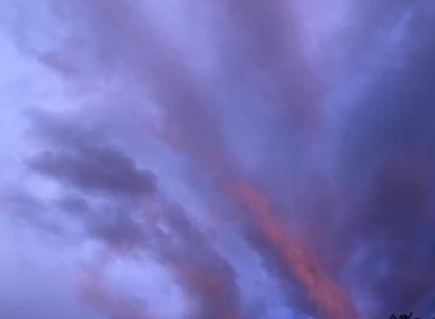 Ciel d?orage le soir