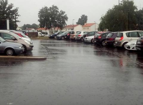 Fortes pluies sur la Vendée