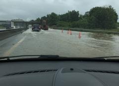 Pluie Lagny-sur-Marne 77400 Inondation A104 a Lagny sur Marne le 12/06