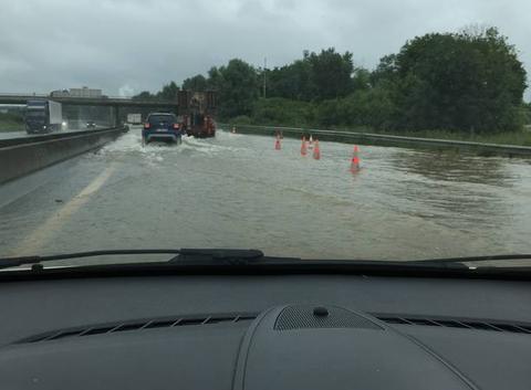 Inondation A104 a Lagny sur Marne le 12/06