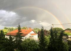 Ciel Castelginest 31780 Soirée pluvieuse avec un jolie Arc-en-ciel