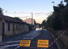Orage L'Isle-Jourdain 32600 Route barree