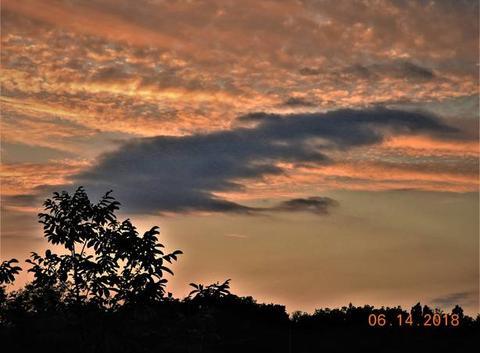 Beau tableau de nuages.