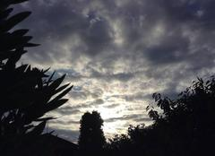 Ciel Mours-Saint-Eusebe 26540 Ciel au soleil couchant
