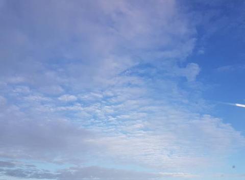 Traînée de nuages