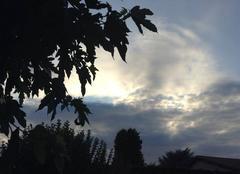 Ciel Mours-Saint-Eusebe 26540 Ciel voilé au couchant