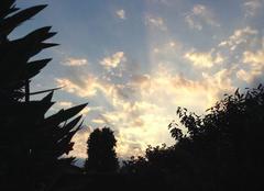 Ciel Mours-Saint-Eusebe 26540 Ciel au couchant