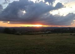 Ciel Charly 69390 Coucher de soleil sur les monts du lyonnais