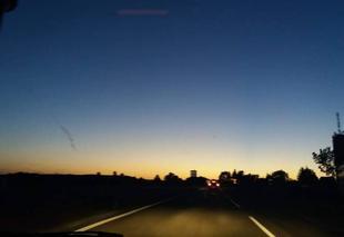 Ciel Gungwiller 67320 Le soleil se couche sur l'Alsace bossue.
