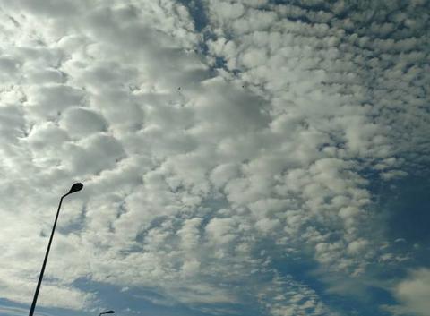 Beaux nuages ce matin