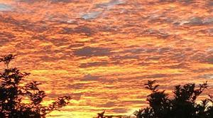 Ciel Teteghem 59229 Couche de soleil