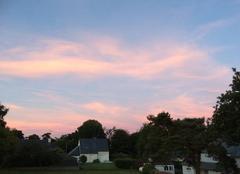 Ciel Plouha 22580 Beaux nuages colorés en fin de soirée