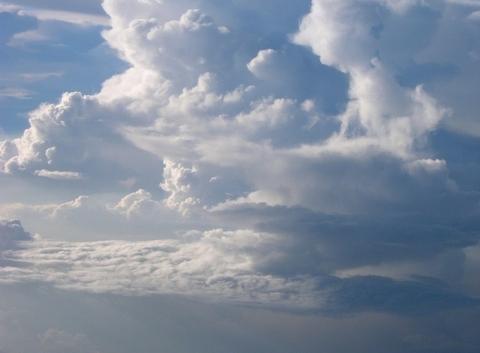 Cumulonimbus vu du ciel
