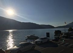 Ciel Doussard 74210 Coucher de soleil sur la reserve du bout du lac