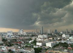 Nuages Bangkok A l'approche de l'orage tropical